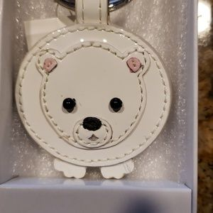 e5cf5edc7675 NIB Coach Retired Patent Leather Polar Bear Fob NWT